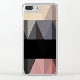 BLACK TWO Clear iPhone Case