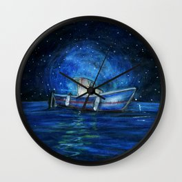 Sailing the Ocean Wall Clock