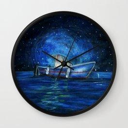 Sailing the Ocean Wall Clock