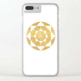 CIRCLES AND SQUARES sacred geometry Clear iPhone Case