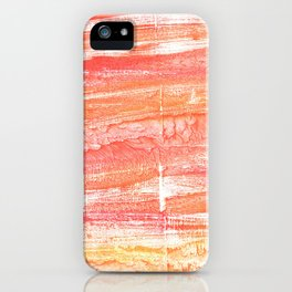 Vivid tangerine abstract watercolor iPhone Case