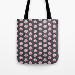 Modern gray blush pink girly daisies floral pattern Tote Bag