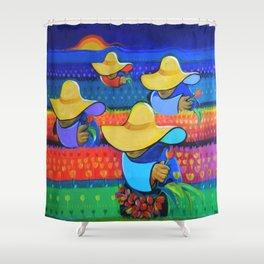 LAS DAMAS RECOLECTORAS Shower Curtain