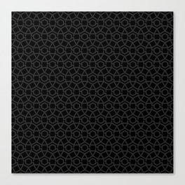 Dark Gravity Tesselation Canvas Print