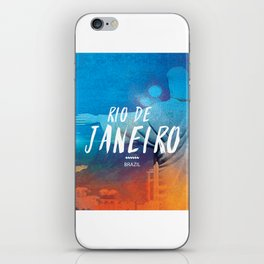 Corcovado, Rio de Janeiro, Brazil, poster iPhone Skin