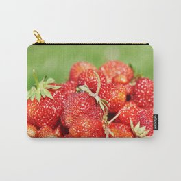 Plate with strawberry Carry-All Pouch
