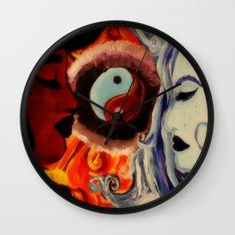 Fire&ice Wall Clock