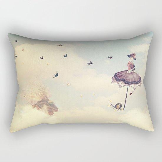 Spring Lady Rectangular Pillow