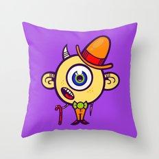 Dapper Monster Throw Pillow