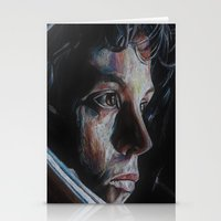 ripley Stationery Cards featuring Ripley from Aliens by Ashley Anderson