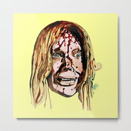 Sissy Spacek AKA Stephen King's 'Carrie' in Yellow. Metal Print