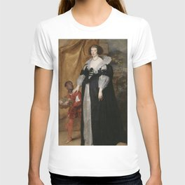 Anthony van Dyck - Princess Henrietta of Lorraine (1611–1660), Attended by a Page T-shirt