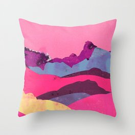 Candy Mountain Throw Pillow
