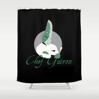 chef Shower Curtains featuring Chef Guiron by Sauce Designs