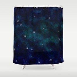 Stars under the Full Moon Shower Curtain