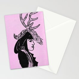 Deer Woman - Lilac Palette Stationery Cards