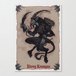 Merry Krampus Canvas Print