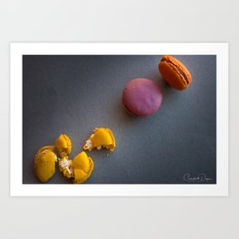 The Art of Food Macaron Crunch Art Print
