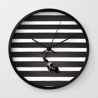 skate Wall Clocks featuring Skate by KATA