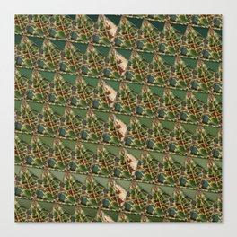 3D triangles with camo pattern Canvas Print