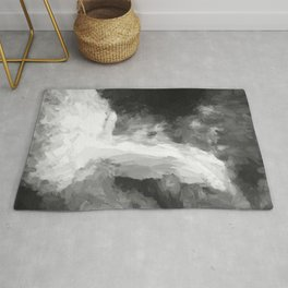 Waterfall modified in Black and White Rug