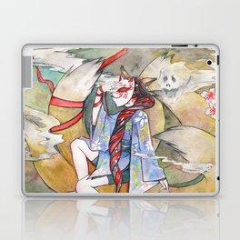Nine tailed fox kitsune spirit in a form of human kimono girl Laptop & iPad Skin