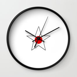 Flag of japan 4 Wall Clock