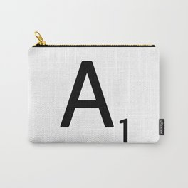 Letter A - Custom Scrabble Letter Wall Art - Scrabble A Carry-All Pouch