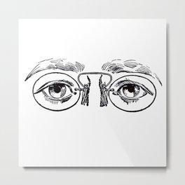 Glasses 3 Metal Print