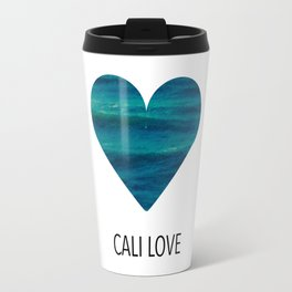 cali love, ocean heart Travel Mug