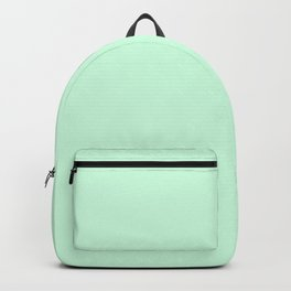 Pale Green Summermint Pastel Green Mint Backpack