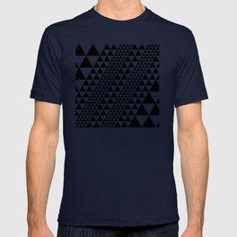 Geometric Pattern #39 (black triangles) T-shirt