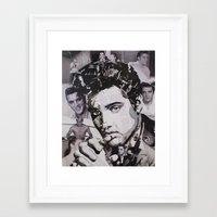 elvis Framed Art Prints featuring Elvis by Ross Collins Artist
