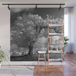 A Tree Blows in the Wind Wall Mural
