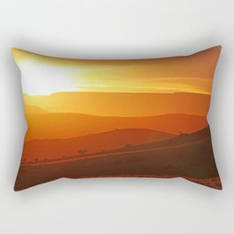 Golden morning in Africa Rectangular Pillow