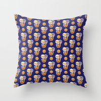 kuroko Throw Pillows featuring BASKETBALL BOYFRIENDS (BLUE) by Kura