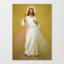 Jesus the Savior Christ Blessing Catholic Religious Christian Art Canvas Print