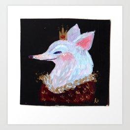 Fox King! Art Print