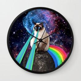 SIAMESE LASER CAT Wall Clock