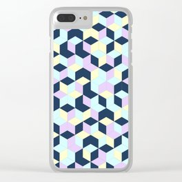 Jagged Colour Jumble Clear iPhone Case