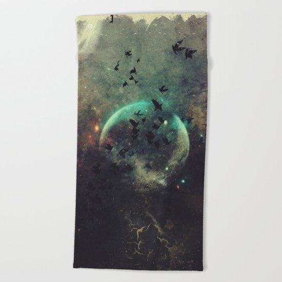 βyrd wyrld Beach Towel