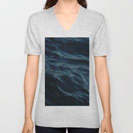 Deep blue waves Unisex V-Neck