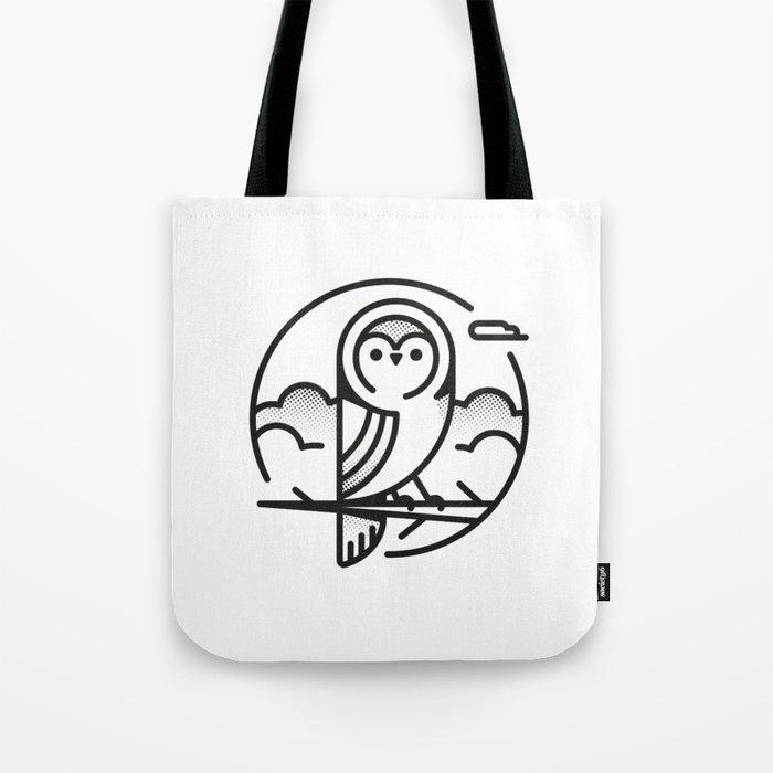 Owl - Black & White Tote Bag