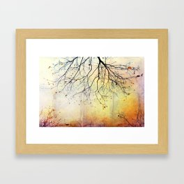 november gold Framed Art Print