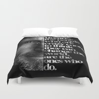 steve jobs Duvet Covers featuring Jobs by Brommy