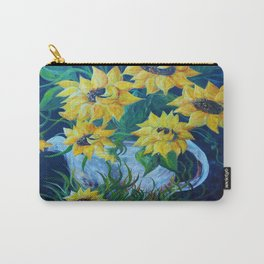 Sunflowers in a Country Pot Carry-All Pouch