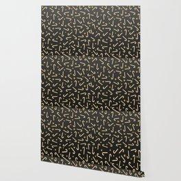 Golden Candycane Dark Wallpaper