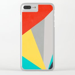 Aggressive Color Block Clear iPhone Case