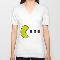 pacman V-neck T-shirts featuring Pacman by ArtSchool