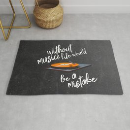 Without Music, Life Would Be a Mistake-Friedrich Nietzsche-vinyl records Rug